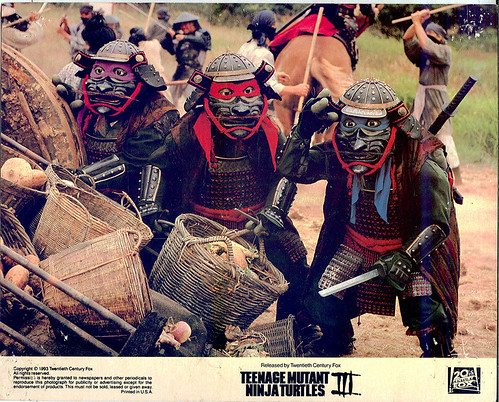 Teenage Mutant Ninja Turtles III : Turtles in Time ::  Lobby Cards { Thailand embossed }  :: Samurai/Ninja (( 1993 ))