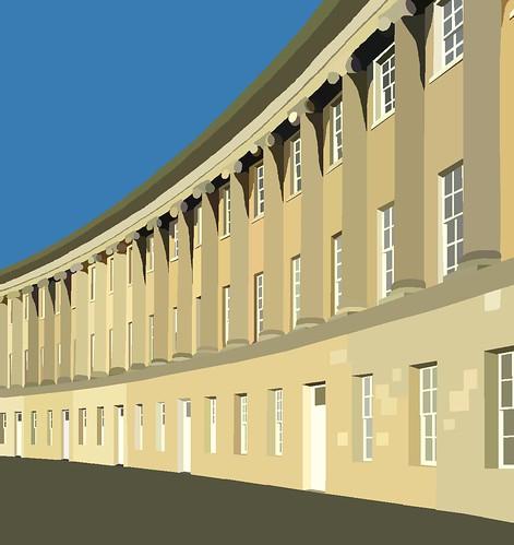 Royal Crescent, Bath in ms paint