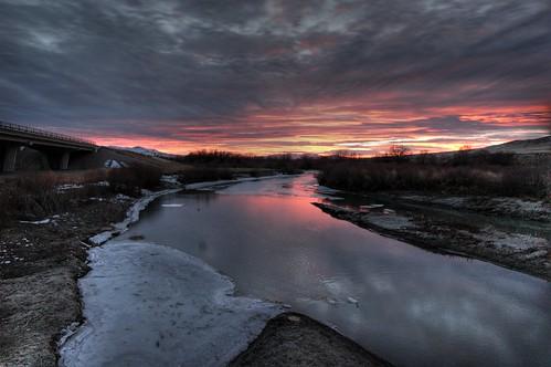 Sunset. Winnemucca, February 3, 2007 by Zack Sheppard