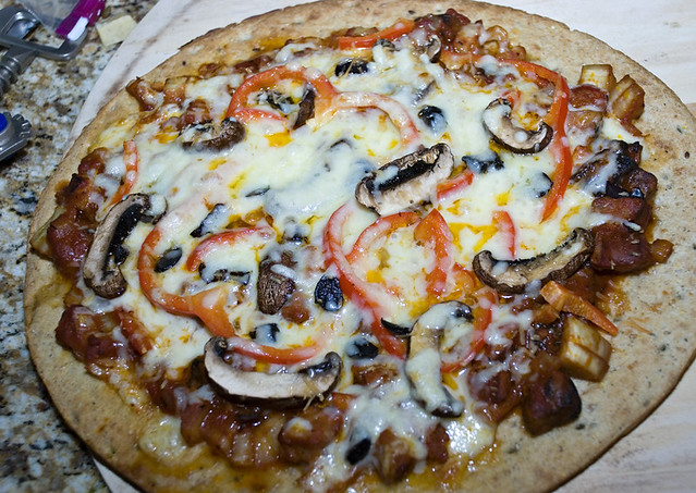 Fennel Portobello Red Pepper Pizza