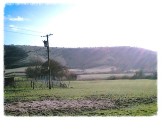 South Downs from Park Barn Farm on the Sussex Border Path on the Burgess Hill to Hassocks (extra) walk 108