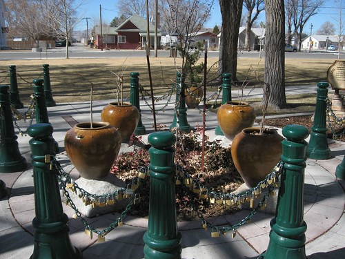 Lock Your Love in Lovelock, Lovers Lock Plaza, Lovelock, Nevada