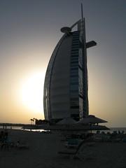 Sunset behind the Burj al Arab