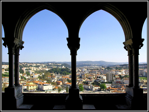 city castle portugal town europe view framed centre north entrance frame citycentre leiria 2007 fee panorame entrancefee