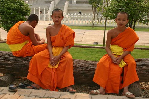 Novices at the White Temple, south of Chiang Rai | by Nicolai Bangsgaard