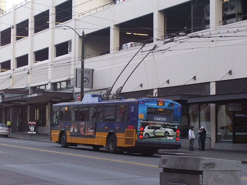 An electric bus, Seattle