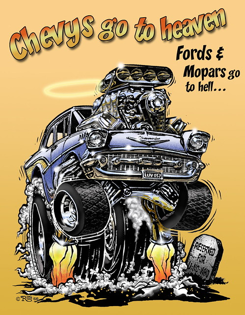 57 Chevy Monster CAR-toon | Flickr - Photo Sharing!
