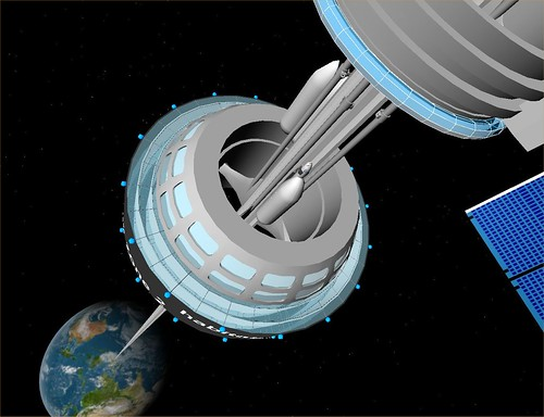 Space Elevator GEO Station by FlyingSinger