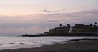 Image of Playa de Fañabe near Playa de las Américas. sunset sea spain shoreline tenerife canaryislands waterspout hisgett fanabebeach