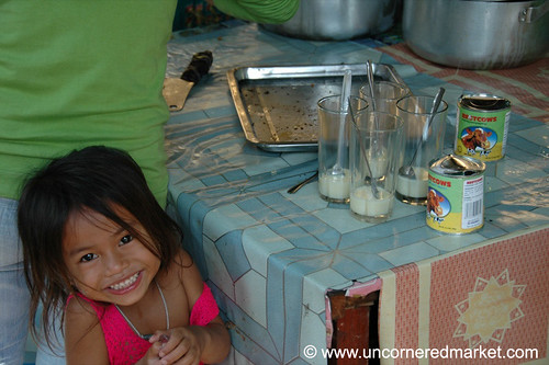 Smiling Kid with Condensed Milk - Phnom Penh, Cambodia