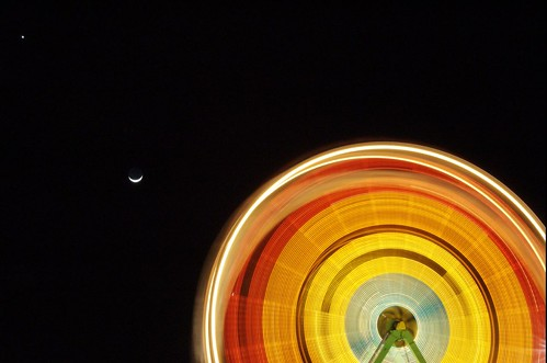 longexposure moon wheel night nikon sanjose ferris jupiter oakridge