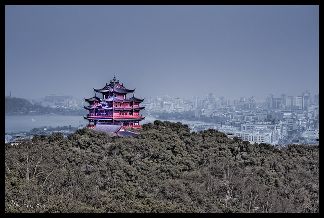 Hangzhou RGB HDR Pagoda by CC user yakobusan on Flickr