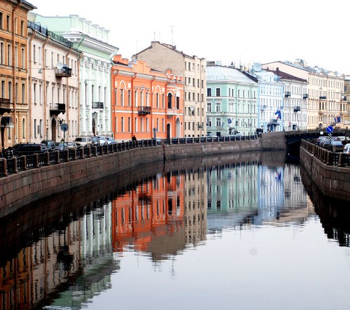 Saint Petersburg Reflection in color