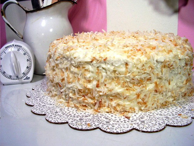 Decadent banana cake with coconut cream cheese frosting | Flickr ...