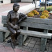 bronz lady on a bench in Prince George BC