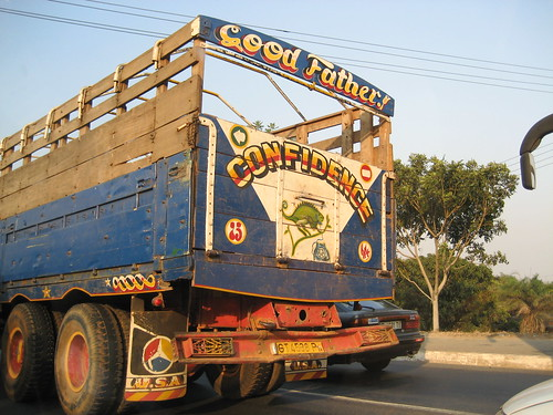 Good father - Confidence - Big Blue truck in Africa