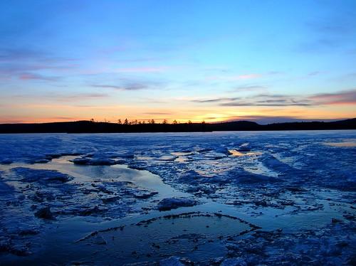 morning winter sky lake ice nature sunrise island amazing maine coldstreampond