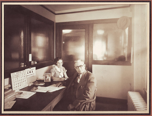 vintage interior, boss and secretary, 1934