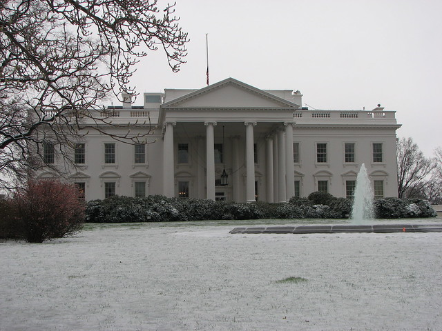Front Elevation Of White House : Photo