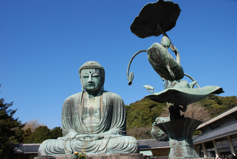 鎌倉大仏 : Great Buddha in Kamakura