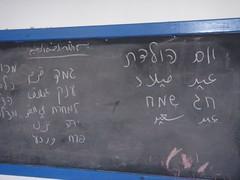 commemorative plaque(0.0), number(0.0), handwriting(1.0), chalk(1.0), writing(1.0), text(1.0), blackboard(1.0),