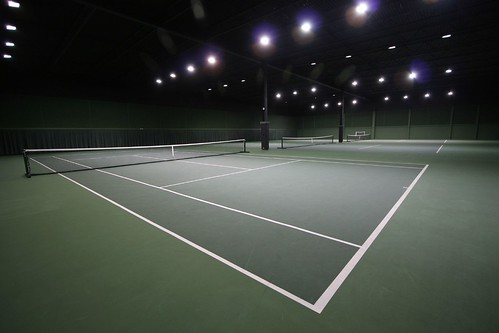 Tennis courts at our health club