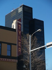 Tyler Sign with BOA Tower in the Background