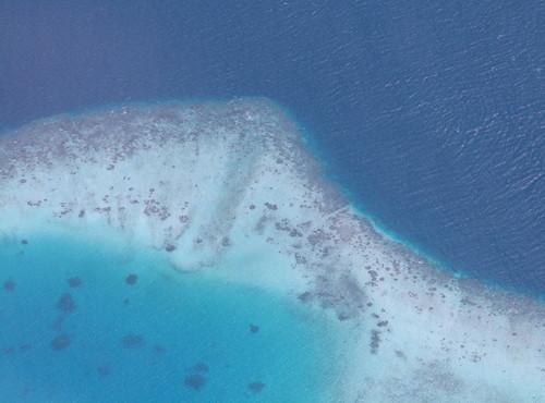 ocean coral geotagged island aerial maldives windowseat atoll kaafuatoll geo:lat=3911246 geo:lon=73407876