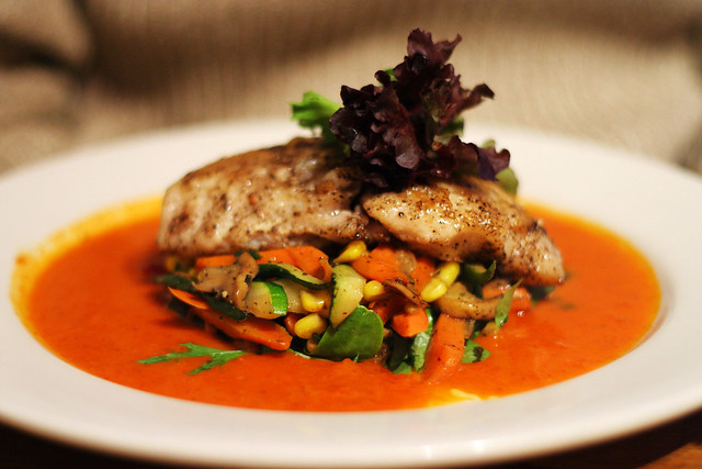 sauteed red snapper | Itzocan Cafe With roasted veggies and ...