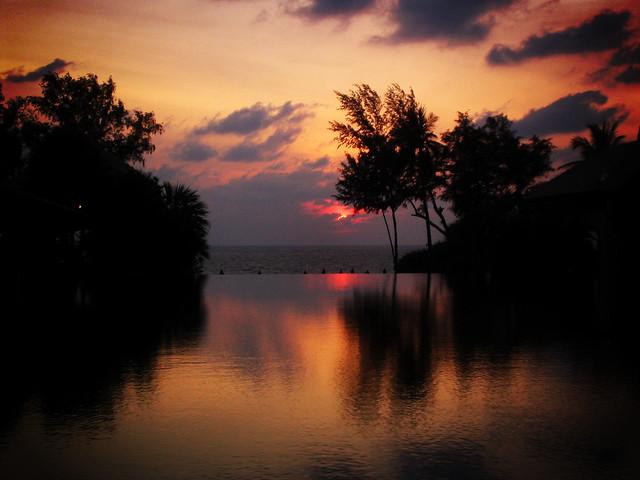 Phuket sunset, Canon DIGITAL IXUS II