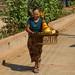 Woman Enjoying a Walking - Luang Prabang, Laos