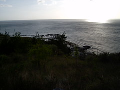 View from Fort Nuestra de la Soledad of setting sun