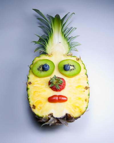 Kids tiki party boys luau for Pineapple carving designs