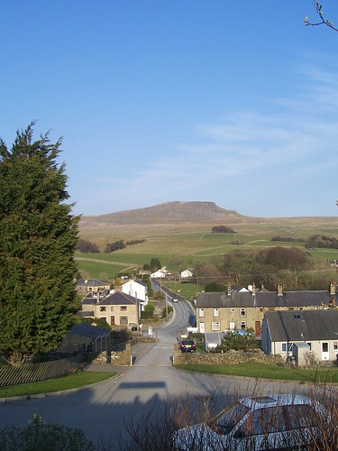 View of Pen-y-ghent from Horton-in-Ribblesdale railway station