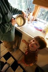 nick admiring the butt shaped bagel doughball    MG …