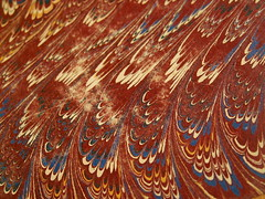 Marbled Paper, Red