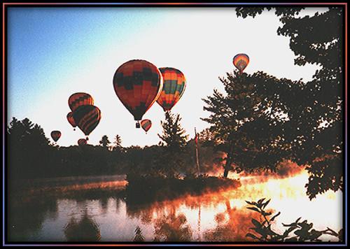 summer mist sunrise river rally peaceful hotairballoon colorphotoaward