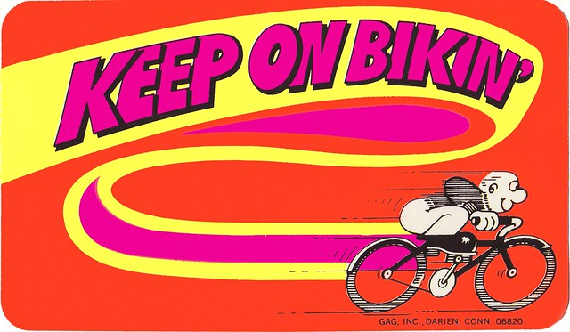 Cereal Lite Ups - Keep on Bikin' Sticker - Honeycomb cereal premium sticker - 1977