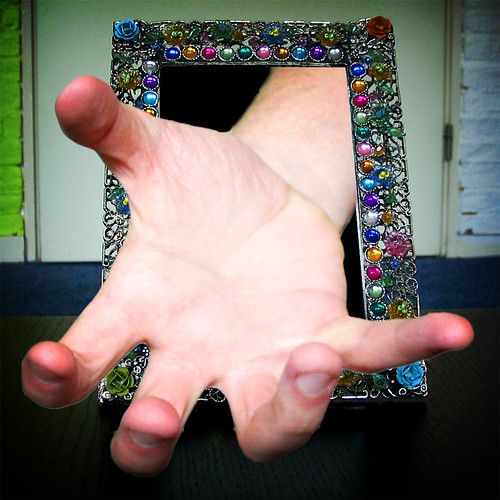 hand through frame