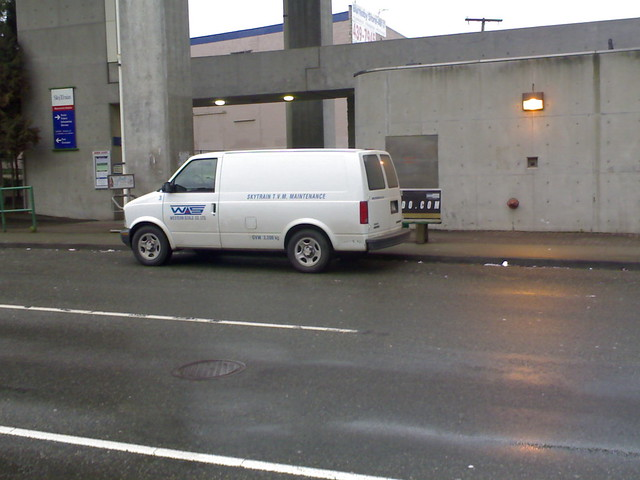 SkyTrain Ticket Vending Machine Maintenance Van