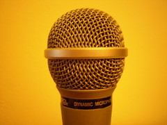 microphone, electronic device, yellow, audio equipment,
