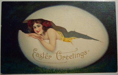 Vintage Easter Postcard by riptheskull