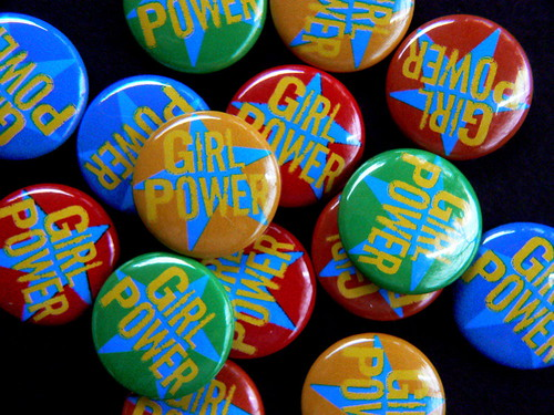 girl power pin-back buttons