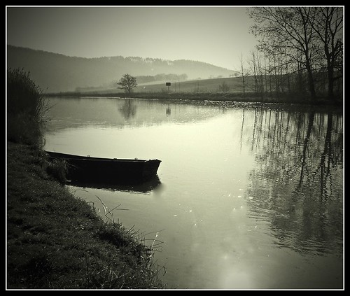 boat on the river...