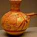 Sieve Jug with a Man and Bull attributed to painter 20 Mycenaean 1250-1225 BCE Terracotta