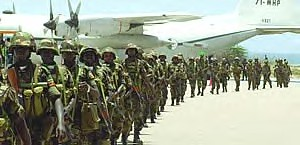 Ugandan troops arriving in Mogadishu to occupy the country on behalf of the US. The African Union has ostensibly accepted a peacekeeping mission in Somalia without consultation with the Al-Shabab resistance movement. by Pan-African News Wire File Photos