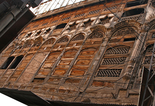 Intricate wood work, Old Buildings, Peshawar City