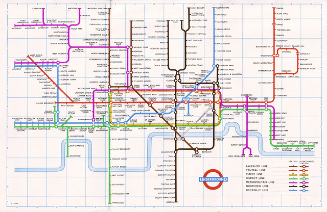 1957 London Underground Map | Flickr - Photo Sharing!