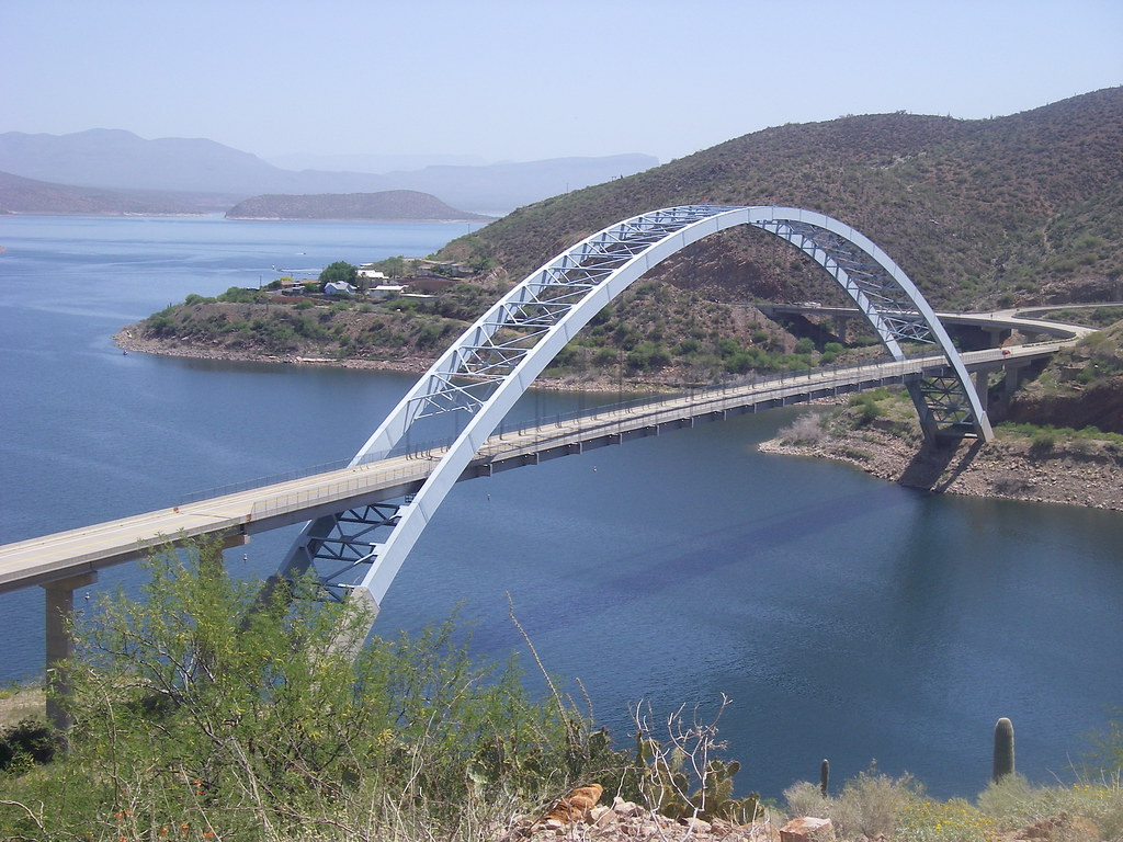 Roosevelt Dam Bridge from Arizona Trail