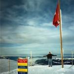 Man on top of the Mountain - Jungfraujoch, Switzerland